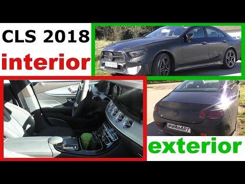 Mercedes Erlkönig CLS 2018 #C257 INTERIOR exterior INNEN außen - Vorab Weltpremiere 4K SPY VIDEO