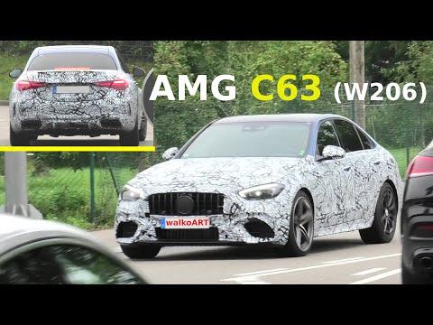 Mercedes Erlkönig AMG C63 (C-Klasse W206) AMG C63 C-Class prototype * 4K SPY VIDEO