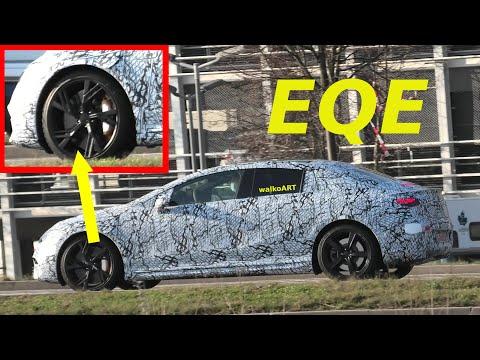 Mercedes Erlkönig EQE prototype & special rims * EQE V295 spezielle Felgen * 4K SPY VIDEO