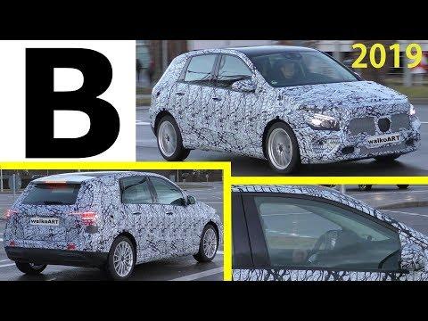 Mercedes Erlkönig B-Klasse B-Class 2019 W247 nah dran - close up - 4K SPY VIDEO