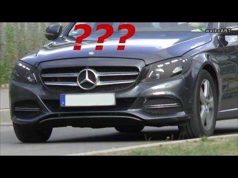 Mercedes-Benz C-Klasse W205 getarnte Scheinwerfer - Testträger ? New C-Class camouflaged headlights