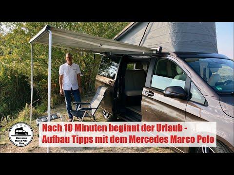 Nach 10 Minuten beginnt der Urlaub - Tipps zum Aufbau mit dem Mercedes Marco Polo