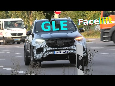 Mercedes Erlkönig GLE prototype V167 Facelift Modellpflege 2022 Snapshot video * 4K SPY