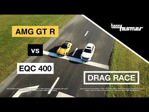 Mercedes-AMG GT R vs EQC 400: DRAG RACE - Wer macht das Rennen? | Hans Tesmer