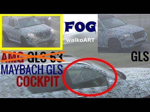 Mercedes Erlkönig first time MAYBACH GLS + Cockpit Blick - in the fog display view 4K SPY VIDEO