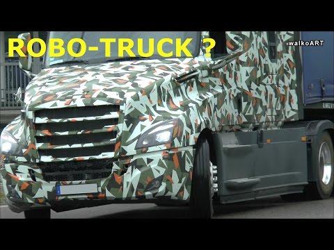 Erlkönig Mercedes ROBO-TRUCK ? Camouflaged giant Mercedes Truck, Freightliner getarnter Truck
