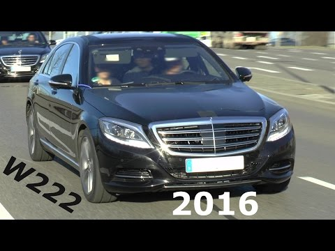 Erster Testwagen Mercedes S-Klasse W222 2016/2017 test car S-Class Prototype Erlkönig Facelift