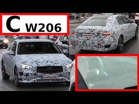 Mercedes Erlkönig C-Klasse C-Class #W206 weniger getarnt - Close up & less camouflaged 4K SPY VIDEO