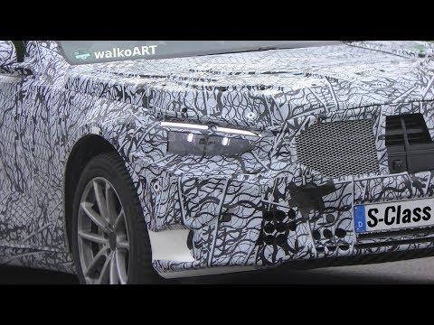 Mercedes Erlkönig S-Klasse W223 the KING next generation S-Class 2020 on the road 4K SPY VIDEO