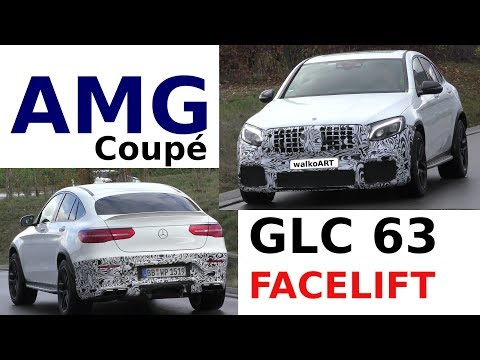 Mercedes Erlkönig Mercedes-AMG GLC 63 Coupé Facelift - Modellpflege 2019 4K SPY VIDEO