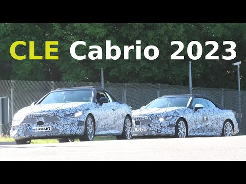 Mercedes Erlkönig 2x CLE Cabrio 2023 * Fusion von C+E Cabrio * All NEW Mercedes Convertible * 4K SPY