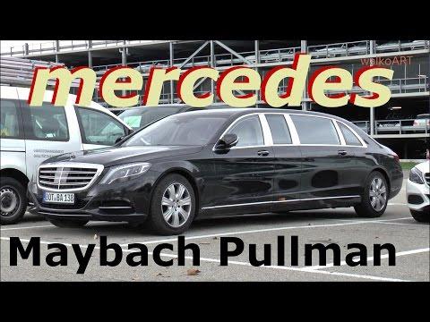 Mercedes-Maybach S600 Pullman 2016 - Erprobungsfahrzeug BRABUS - test car - SPY VIDEO Erlkönig