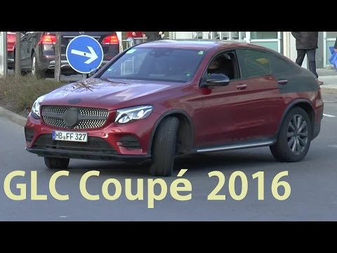 Mercedes Erlkönig GLC Coupé fast ungetarnt - virtually undisguised spotted C253 SPY VIDEO