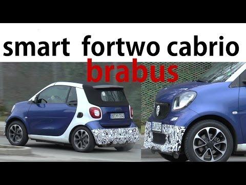 Mercedes Erlkönig 2016 - Smart fortwo cabrio A453 Brabus, Ampelstart - prototype spotted SPY VIDEO