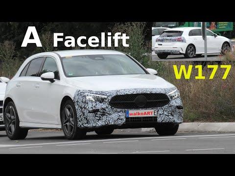 Mercedes Erlkönig A-Class A-Klasse W177 FACELIFT prototype * Modellpflege * 4K SPY VIDEO