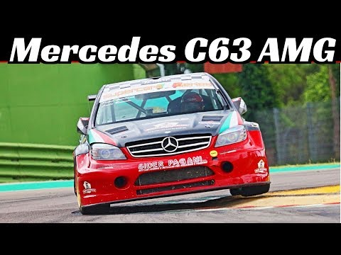 Mercedes-Benz C63 AMG SuperStars - 550Hp V8 N/A Engine Sound & Actions at Imola Racetrack!