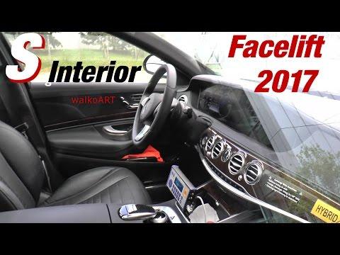 Mercedes Erlkönig S-Class S-Klasse Interior Innen Facelift W222 2017 Testträger - Test car SPY VIDEO
