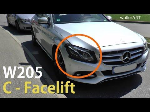 Mercedes Erlkönig C-Klasse W205 C-Class first test car FACELIFT erster Testträger Modellpflege 2018