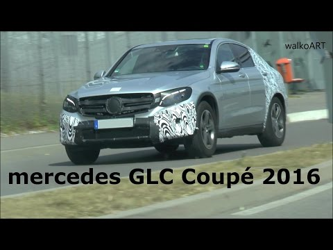 ERLKÖNIG Mercedes GLC Coupé C253 wenig getarnt frontal - Mercedes GLC Coupe 2016 few camouflaged