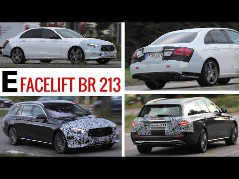 Mercedes Erlkönig E-Klasse E-Class Facelift W213 + S213 black & white prototypes - 4K SPY VIDEO