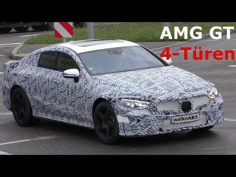 Mercedes Erlkönig - AMG GT Viertürer four-door prototype NEWS - 4K SPY VIDEO