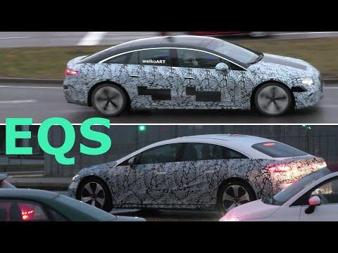 Mercedes Erlkönig EQS weniger getarnt V297 * less camouflaged prototypes * 4K SPY VIDEO