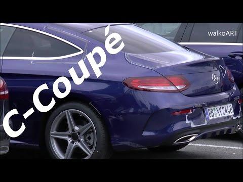Erlkönig Mercedes C-Klasse Coupé 2016 ungetarnt - C-Class Coupe uncamouflaged C205 SPY VIDEO