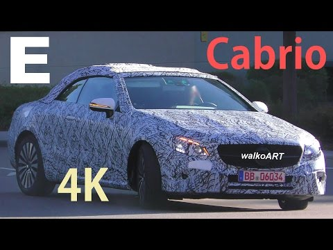 Mercedes Erlkönig A238 E-Klasse Cabrio E-Class Convertible 2017 spotted - 4K SPY VIDEO