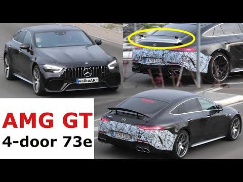 Mercedes Erlkönig AMG GT 4-door 73e * Unterschiedliche Spoiler * X290 different spoilers * 4K SPY