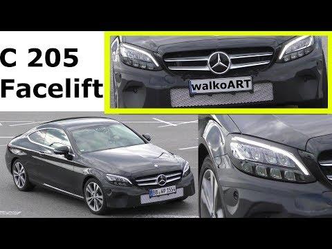 Mercedes Erlkönig C-Klasse C-Class Coupé C 205 Facelift prototype 2018 4K SPY VIDEO