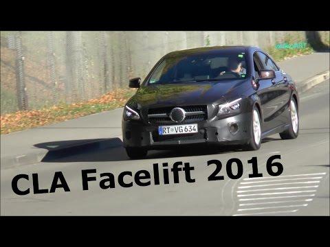 Erlkönig Mercedes-Benz CLA Facelift Modellpflege 2016 C117 Mercedes CLA-Class Prototype SPY VIDEO
