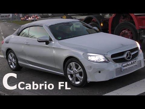 Mercedes Erlkönig COOL C-Klasse FROZEN C-Class Cabrio A205 Facelift 2018 - 4K SPY VIDEO