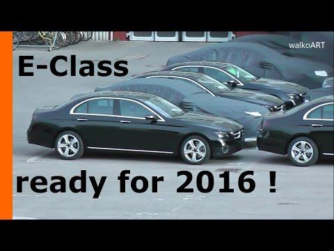 WOW! 100x E-Klasse E-Class Mercedes Erlkönig W213 Weltpremiere world premiere Detroit NAIAS 2016