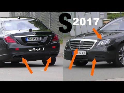 Mercedes Erlkönig S-Klasse S-Class 2017 Facelift fertig & leicht getarnt - ready & less disguised