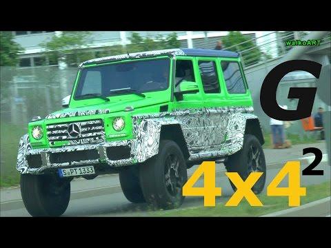 BRUTAL ! Erlkönig Mercedes G500 4×4² original sound G-Class 500 4x42 Prototype on the road Spy Video