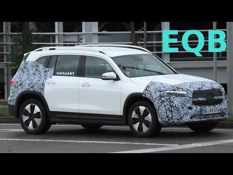 Mercedes Erlkönig EQB wenig getarnt auf der Straße - EQB (2020) X243 less camouflaged 4K SPY VIDEO