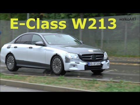 Erlkönig E-Klasse 2016 W213 fast entkleidet in Bewegung Prototype E-Class almost undressed in motion