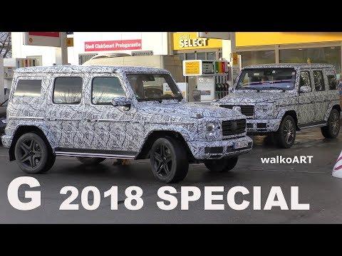 Mercedes Erlkönig G-Class 2018 SPECIAL G-Klasse 2018 SPEZIAL beim Tankstopp erwischt! 4K SPY VIDEO