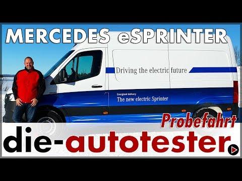 2019 Mercedes-Benz eSprinter - Probefahrt des elektrischen Sprinter im Eis   Test   Review   Deutsch