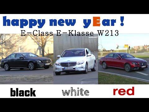 Mercedes Erlkönig - happy new yEar ! E-Class E-Klasse black white red - SCHWARZ WEISS ROT W213
