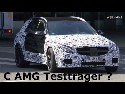 Mysterious Mercedes Erlkönig C-Class AMG T-Modell S205 Testträger Mule E63 ? Black Series? SPY VIDEO