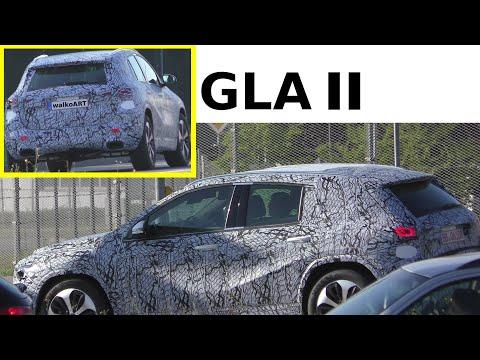 Mercedes Erlkönig GLA H247 (2020) von hinten - GLA prototype 2020 from behind - 4K SPY VIDEO