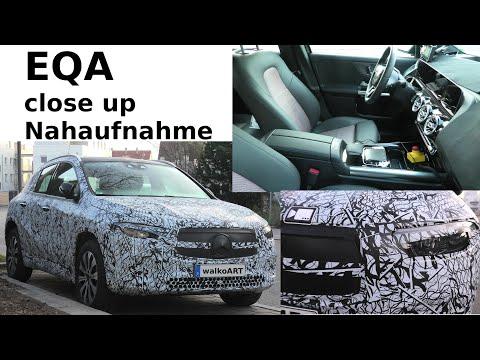 Mercedes Erlkönig EQA prototype close up * interior * interieur Nahaufnahme * 4K SPY VIDEO