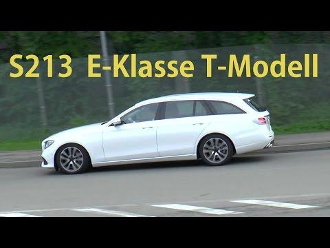 Mercedes Erlkönig Convoy- E-Class Estate letzte Ausfahrt E-Klasse T-Modell S213 vor Weltpremiere