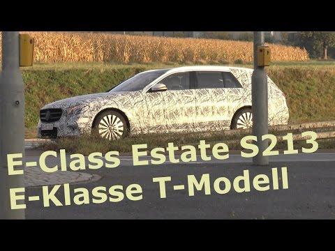Mercedes Erlkönig E-Klasse T-Modell S213 2016 - Mercedes prototype E-Class Estate 2017 SPY VIDEO