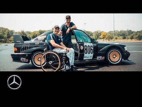 JP Kraemer driftet mit Rennfahrer David im umgebauten 190 E // #MeinMercedes