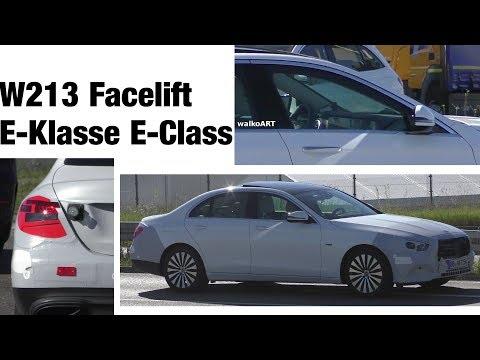 Mercedes Erlkönig E-Klasse E-Class W213 Facelift prototype Modelpflege close up 4K SPY VIDEO