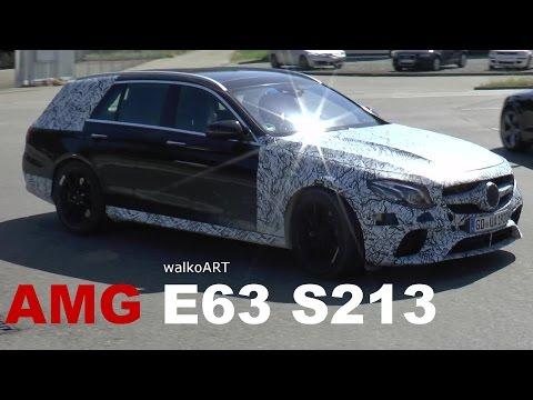 Mercedes Erlkönig AMG E63 (V8) S213 T-Modell estate (2017) spotted on the road SPY VIDEO