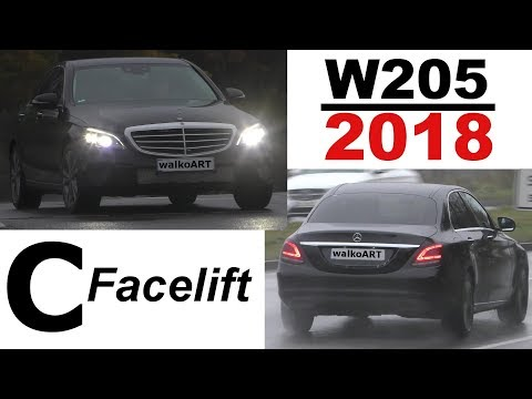 Mercedes Erlkönig C-Klasse C-Class Facelift W205 ready for Detroit NAIAS 2018 - 4K SPY VIDEO