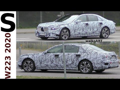Mercedes Erlkönig S-Klasse S-Class W223 2020 auf der Straße - on the road 4K SPY VIDEO